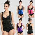Top body shapers steel bones Latex Waist Trainer women Cincher Rubber Waist Corset underbust Slimming Belt