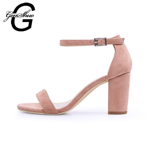 Ankle Strap Heels Women Sandals Summer Shoes Women Open Toe Chunky High Heels Party Dress Sandals 1