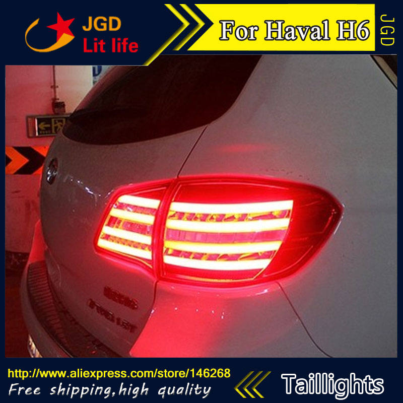 Car Styling tail lights for Haval H6 LED Tail Lamp rear trunk lamp cover drl+signal+brake+reverse car styling tail lights for ford ecopsort 2014 2015 led tail lamp rear trunk lamp cover drl signal brake reverse