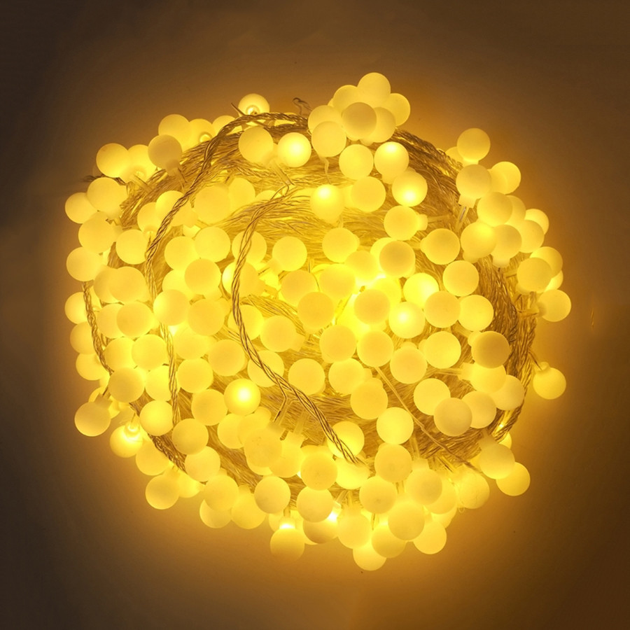 Thrisdar 10M 20M 30M 50M 100M Globe Ball Fairy String Light Garland Outdoor Garden Wedding Party Christmas Fairy LED String image