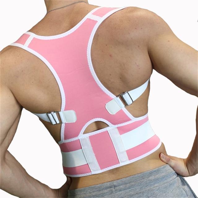 Nueva Ajustable Lumbar Transpirable Espalda Corrector de Postura Hombro Apoyo de la Ayuda