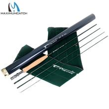 Maximumcatch Fly Rod 40T+ 46T SK углеродное быстрое действие AAAA пробковая ручка с алюминиевой трубкой Удочка 5/6/8WT 9FT