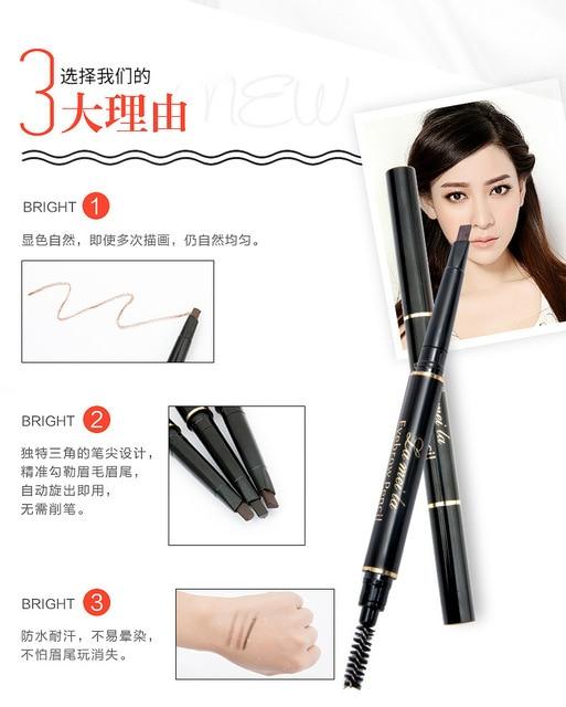 2020 New Brand Eye Brow Tint Cosmetics Natural Long Lasting Paint Tattoo Eyebrow Waterproof Black Brown Eyebrow Pencil Makeup 1