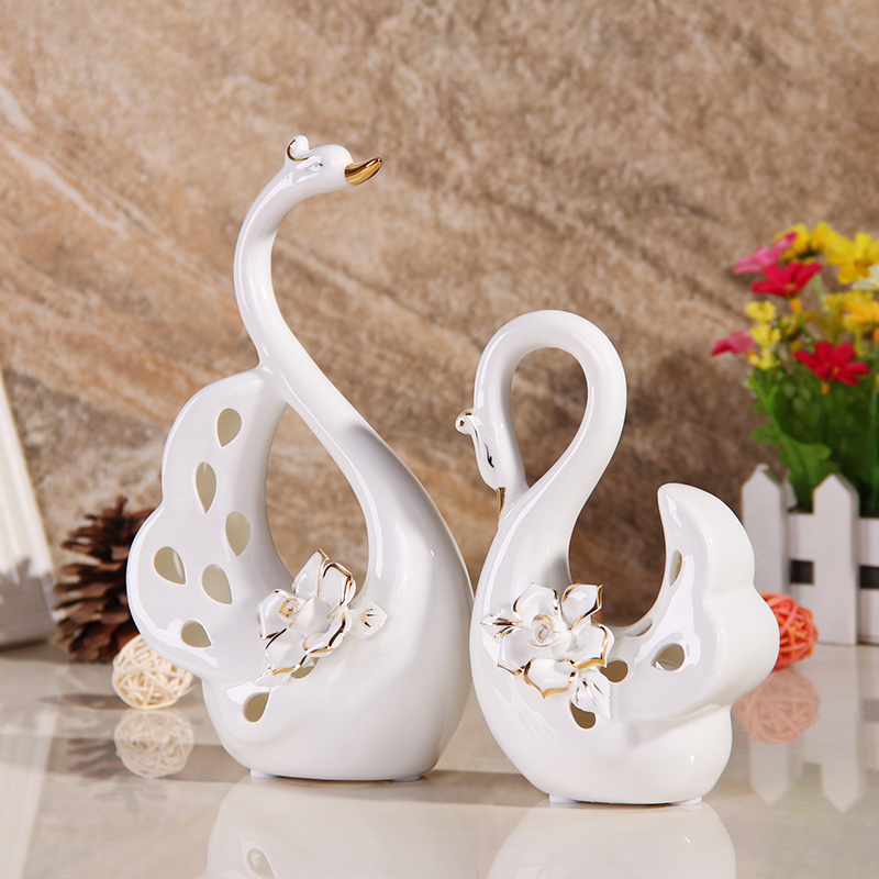 Exceptional Little Swan Ceramic Ornaments Home Decor European Modern Living Room  Furnishings Creative Wedding Gift Crafts In Bookcases From Furniture On  Aliexpress.com ...