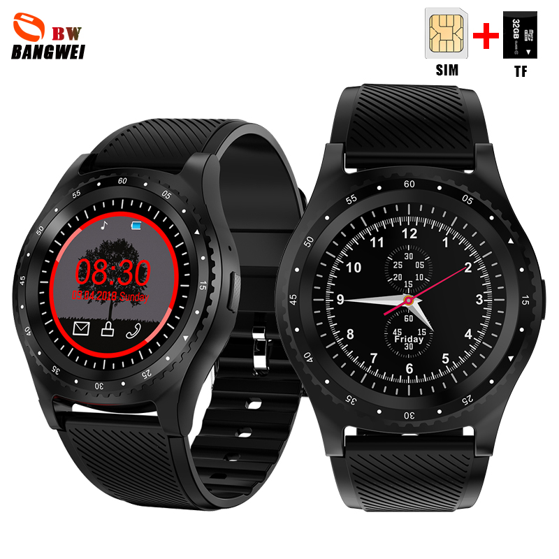 BANGWEI Smart watch men Women Sport watch Color LED Touch Screen Reminder watch Support SIM TF card For Android IOS Reloj hombre