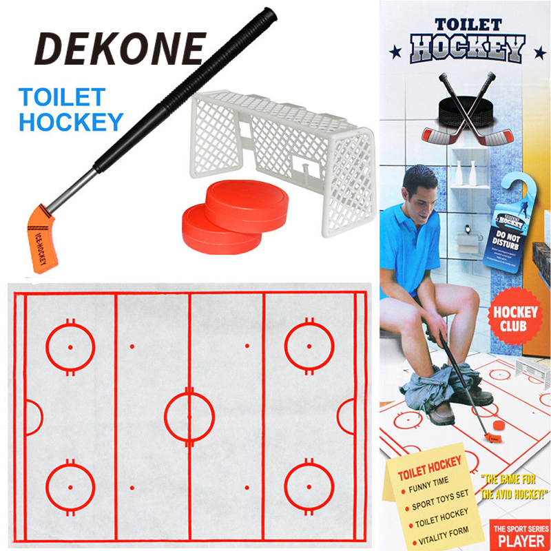 NEW Toilet Hockey - Bathroom Becomes Your Game Room Easy To Play Anytime Anywhere For Adults And Kids Family Games Retractable