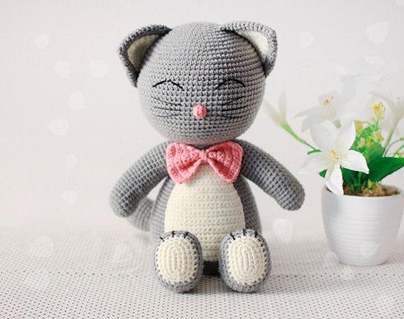 Crochet Cat Doll   Rattle