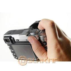 DSLRKIT kciuk w górę uchwyt dla Fujifilm X-E1 X-M1 X-A1 X-E2 X-Pro1 (srebrny)