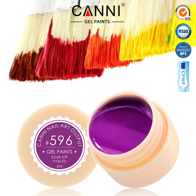 CANNI New 2016 Manicure Nail Art ManicurTips 141 Color UV LED Soak Off Gel Laquer Color Paint Gel Ink UV Gel for nail art design