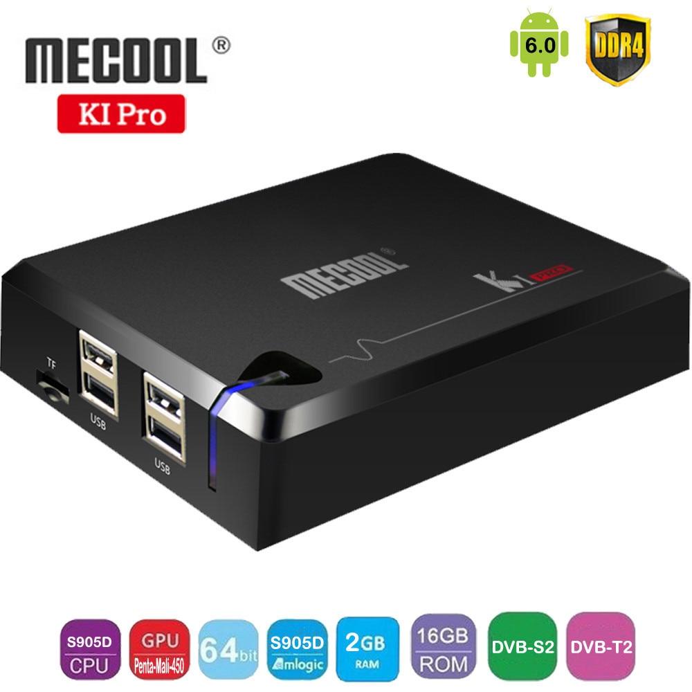 MECOOL KI PRO Android 6.0 TV Box Amlogic S905D Quad Core 64bit DVB-T2/ DVB-S2 2GB DDR4 16GB FLASH 2.4G/5G WIFI Set Top Box