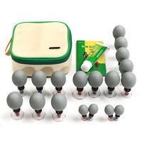 18PCS household Vacuum Magnetic Therapy Acupressure Suction Cup TCM Acupuncture Moxibustion Cupping Set for massage Health Care