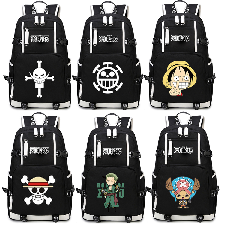 Japan Anime One Piece Luffy Team Glow In Dark Light Women Men Backpack Schoolbag Bag Boys Girls Student book bag oxford team student s book 1