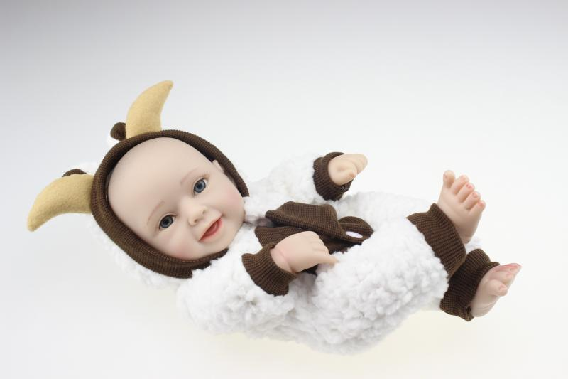 Mini 25cm Silicone Reborn Babies Dolls Lifelike Clever Animal Style Clothes  Accompany Sleeping Girl Boy Baby Bathe Shower Toy In Dolls From Toys U0026  Hobbies ...