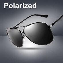 Oversized Polarized Sunglasses Men Brand Retro Driving Pilot