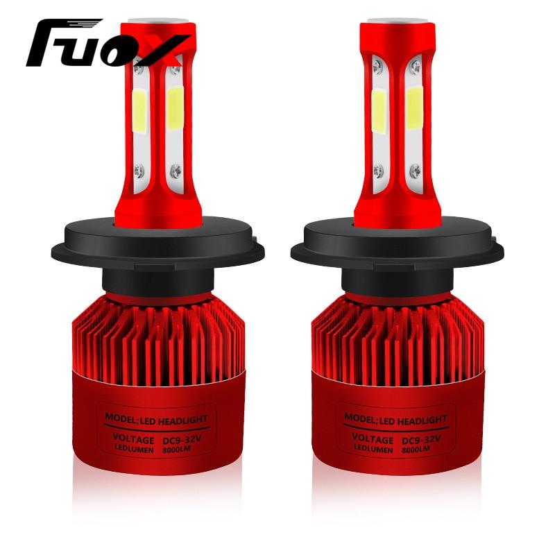 2Pcs H4 LED H7 H11 H1 H3 9005 9006 Auto Car Headlight 72W 8000LM High Low