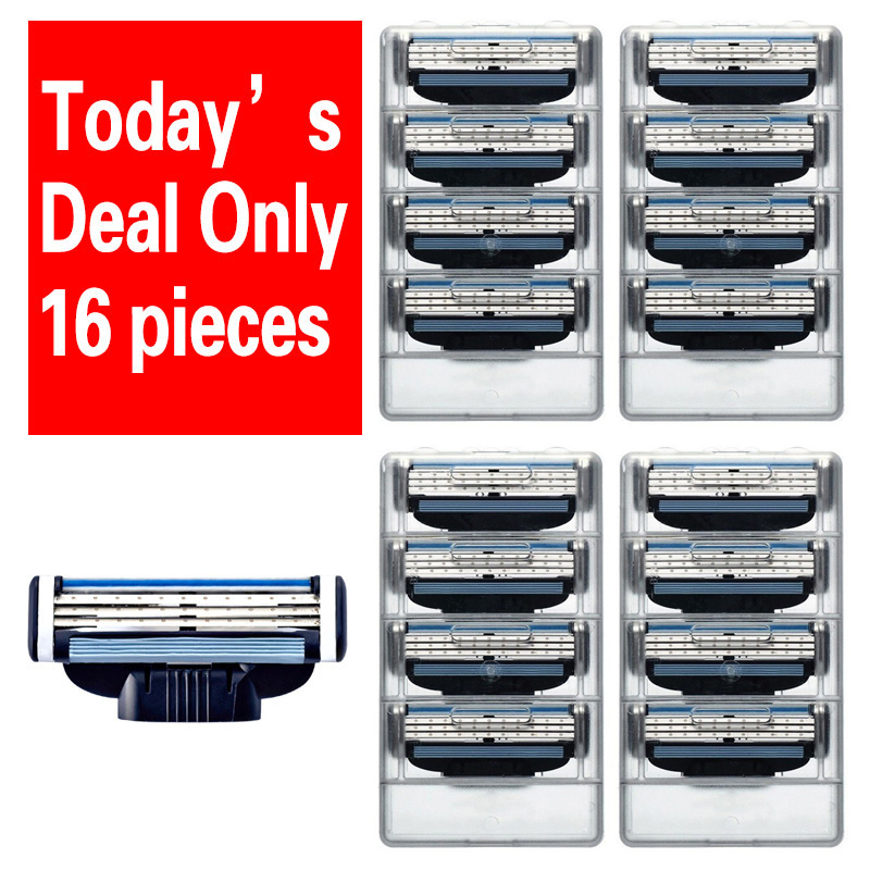 [ 16pcs/pack ] Men's Razor Blades High Quality 3 layer Shaving blades for men Standard for mache 3
