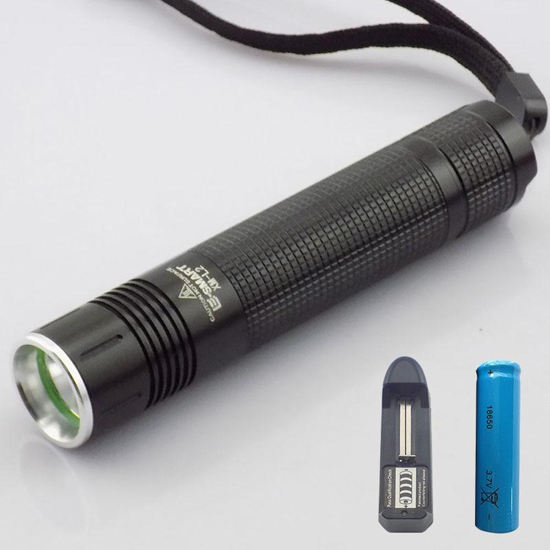XM-L2 2000 lumen mini led lanterna lanternă lanterna LED ridicat luminos linternas reîncărcabilă 18650 baterie + acasă încărcător