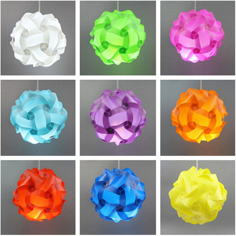 30pcs 30cm Iq Puzzle Creative Jigsaw Home Bar Decor Light Lamp Shade Lampshade Design Size M Decoration In Covers Shades From Lights Lighting On