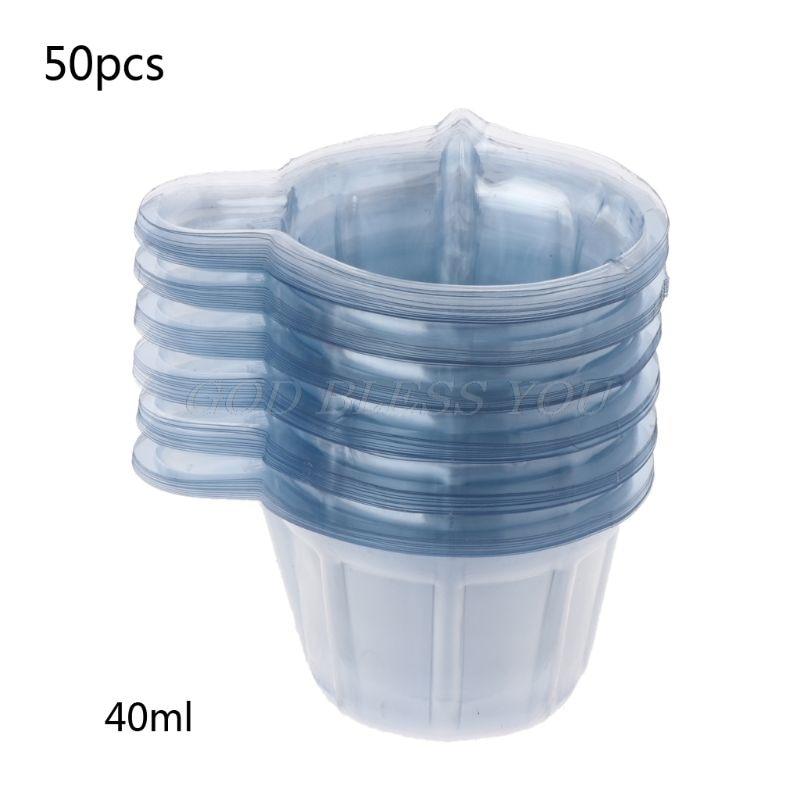 50Pcs 40ML Plastic Disposable Cups Dispenser DIY Epoxy Resin Jewelry Making Tool