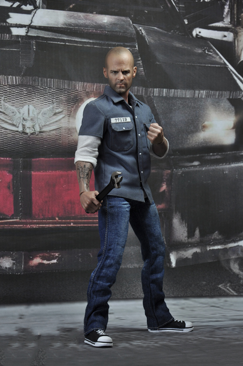 1/6 Scale EX004 Death Race Driver Frankenstein Jason Statham Full Set Action Figure Model for Collections