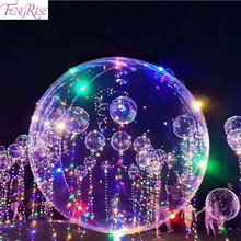 FENGRISE 18 Inch Led Copper Wire String Light Balloons Luminous Balloon Romantic Wedding Decoration Birthday Party Supplies