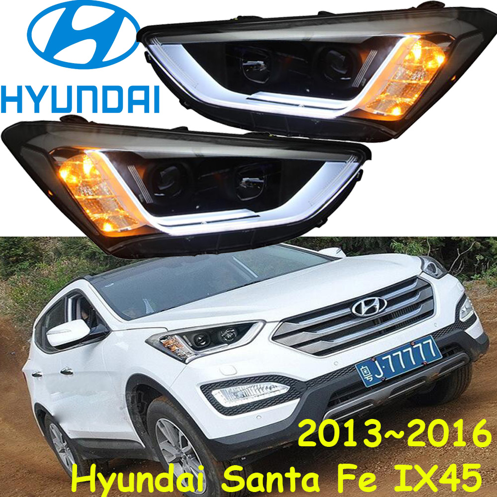 Santa fe ix45 headlight,2013~2016,(LHD,If RHD need add 200USD),Free ship! ix45 fog light,2ps/se+2pcs Ballast, Santa fe cadilla srx headlight 2011 2015 fit for lhd if rhd need add 300usd free ship srx fog light 2ps set 2pcs ballast srx