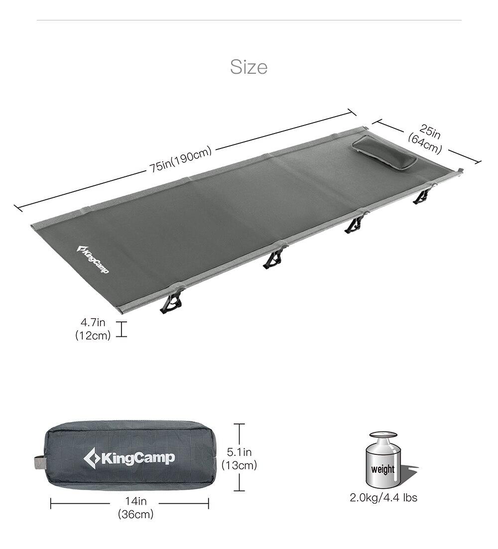 KingCamp-Ultralight-Single-Folding-Bed-Weight-Capacity-120KG-Camping-Cot-Aviation-Aluminum-Portable-Hiking-Travel-Comfortable -2