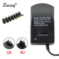 Universal adjust power adapter Multi Voltage 3v 4.5v 6v 7.5v 9v 12v adjustable Power Supply Adapter Converter Cable 7 Plugs 30W