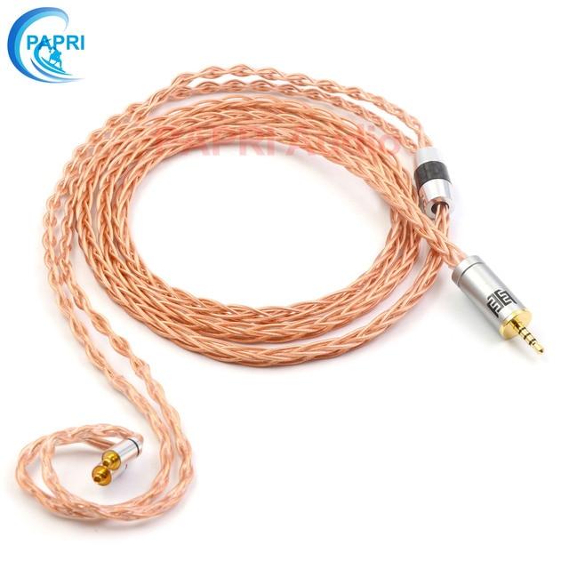 PAPRI GS01 mise à niveau casque câble 7N OCC bricolage MMCX 0.78 MM HiFi Litz Structure écouteur fil pour IE80 HD800 SE846 SE535 HD600