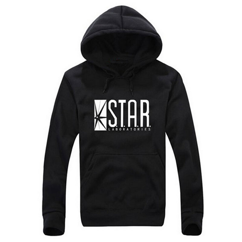 New Autumn Brand Hoodies Superman Series Men Youth Hoody Star Labs Jumper The Flash Gotham City Comic Books Black Sweatshirts Rapid Heat Dissipation Men's Clothing