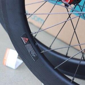 """Image 5 - Silverock fibra de carbono 20 """"451 406 rodados 24h aro pinça freio a disco para bicicleta dobrável minivelo rodas"""