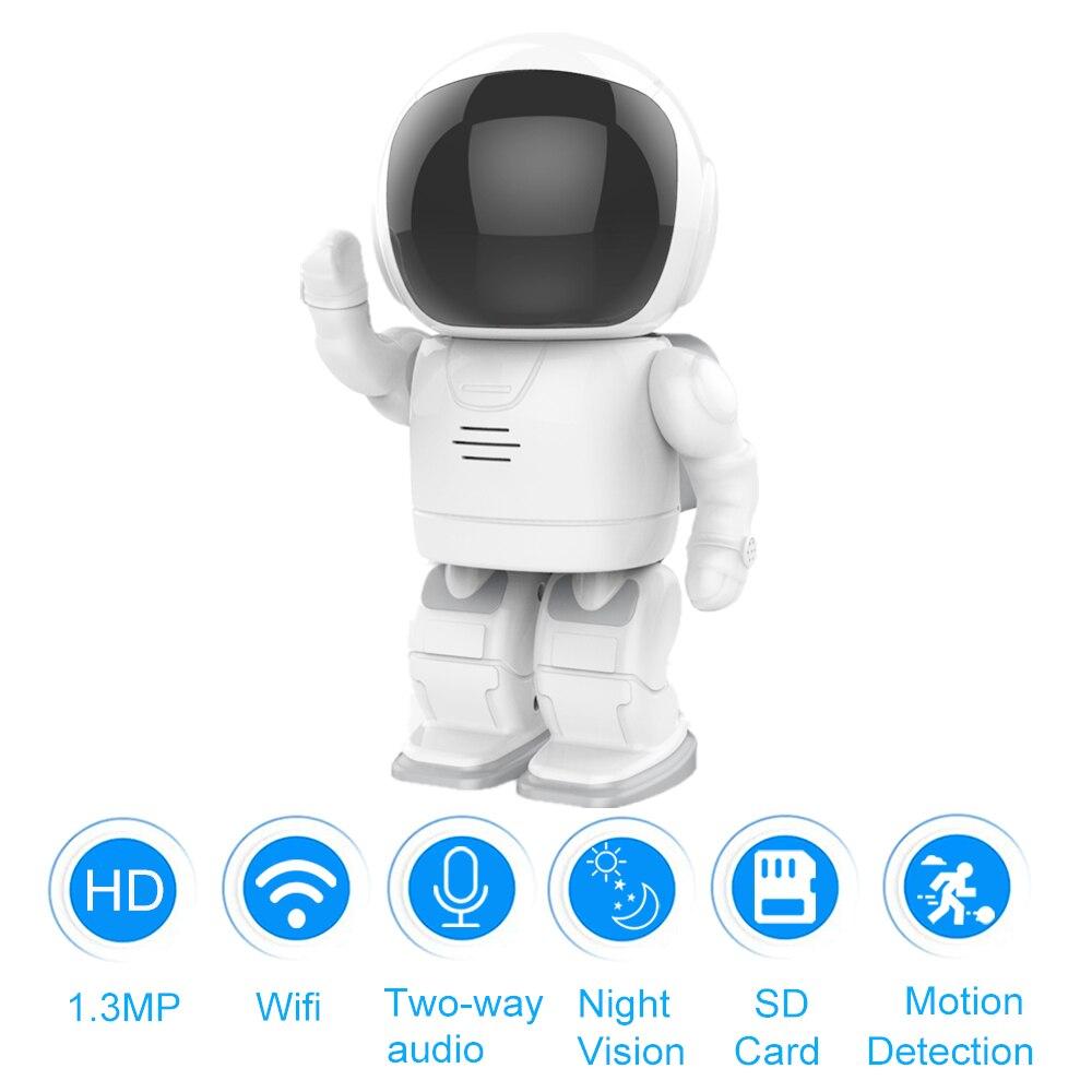 Умный робот WI-FI Камера HD 960 P безопасности Беспроводной IP Камера маленьких двухстороннее аудио Обнаружение движения монитор Поддержка SD кар...