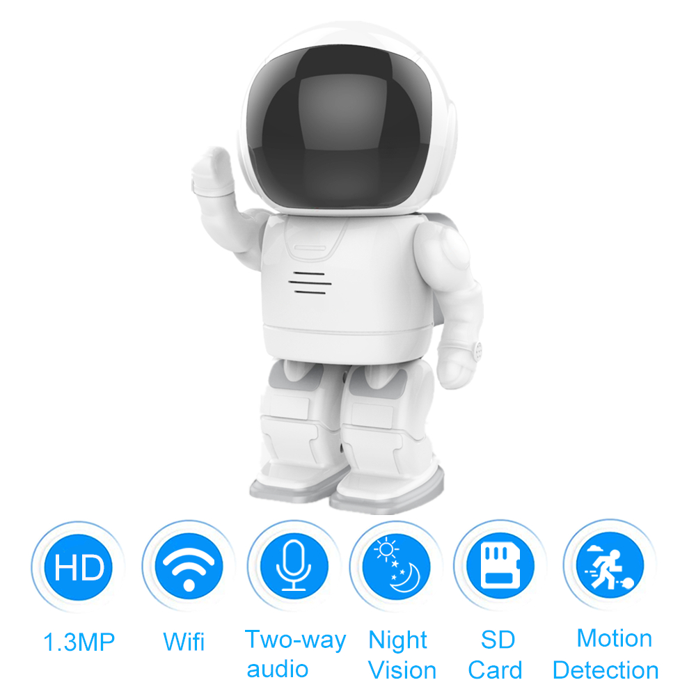 Smart Robot WIFI Camera HD 960P Security Wireless IP Camera Baby Two way Audio Motion Detection Monitor Support SD Card YOOSEE цена 2017