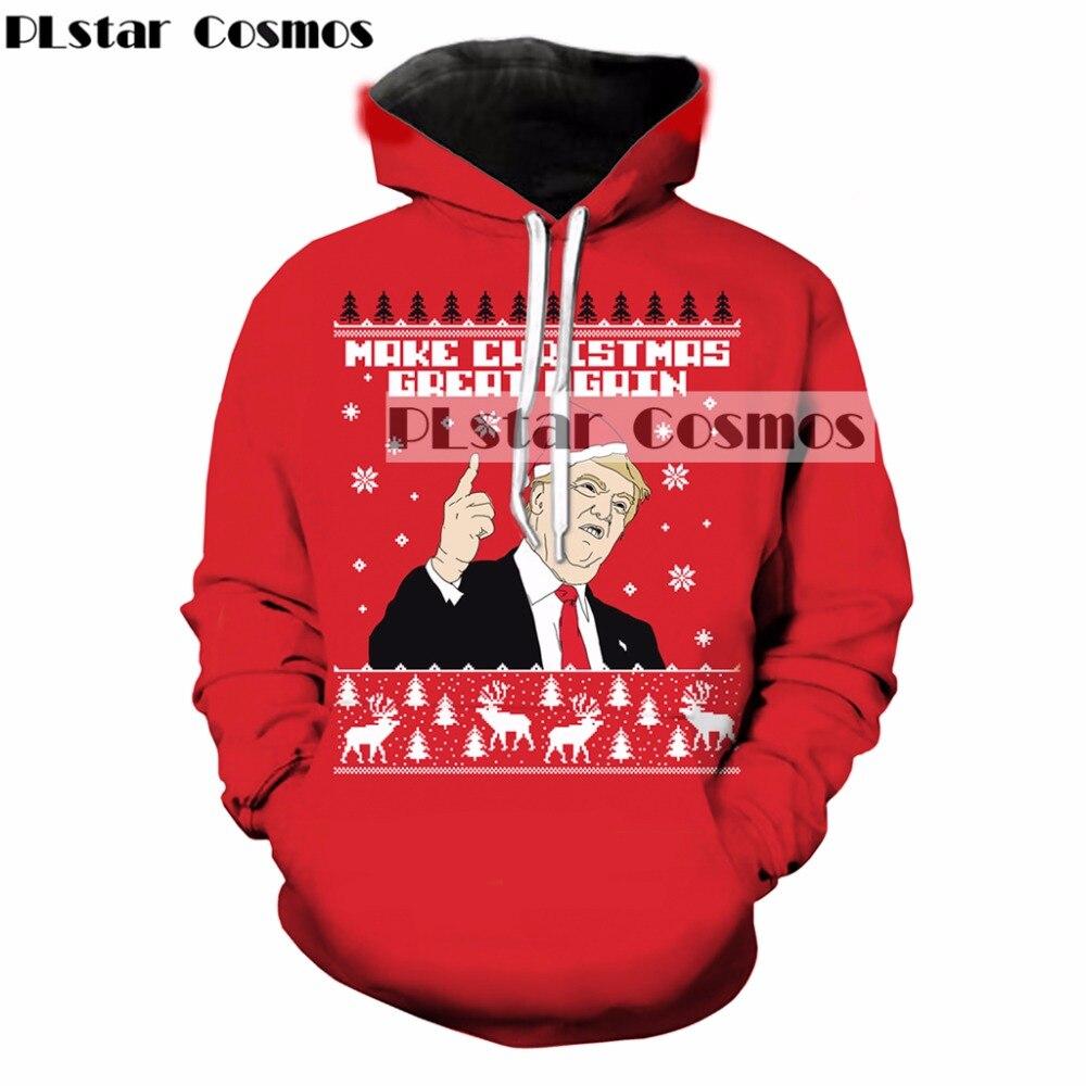 Plstar Космос высокого качества Модные рождественские 3D толстовки Забавный Трамп принт Для женщин Для мужчин Толстовка Повседневная Пуловеры...