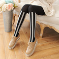 New Arrival Vertical Stripe Fancy Cotton Women Pantyhose Slim Jacquard Sweet Autumn Winter Thick Tights