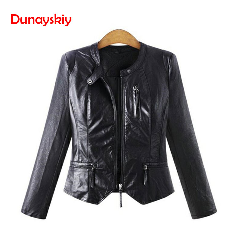 Winter Women PU Leather   Jackets   Casual Big Size Outerwear Black Long Sleeve Women   Basic     Jacket   Coats Plus Size Women Clothing