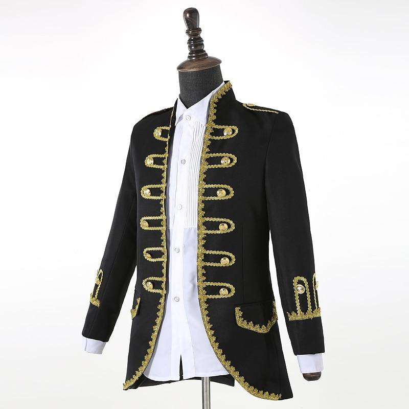 (veste + pantalon) costume masculin noir bleu blanc costumes magicien - Vêtements pour hommes - Photo 3