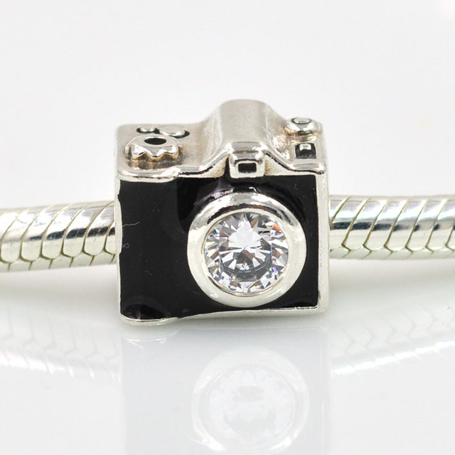2017 Autumn New 925 Sterling Silver Beads Sentimental Snapshots Camera Charm Fits Pandora Charms Bracelet Diy