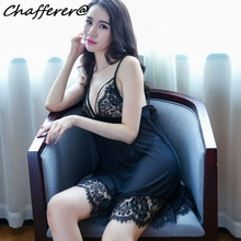 9caf1a258af Chafferer Lace Transparent Underwear Strap Nightdress Women Sexy Lingerie  Pajamas Temptation Babydoll Sex Dress Chemise Femme