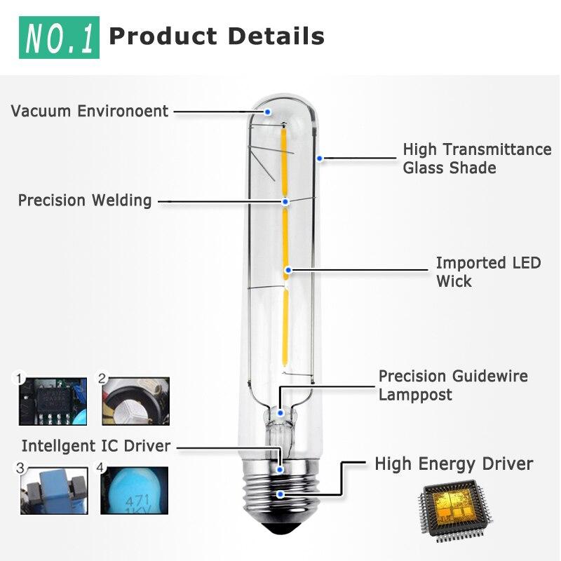 E27 Led Edison Bulb 3W 6W 7W 8W Vintage Edison AC 220V T30 COB LED Filament Light Retro Bulb