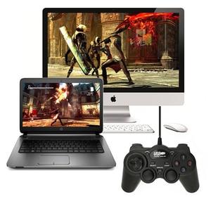 Image 4 - 2,0 USB проводной геймпад, Джойстики, USB геймпад, джойстик, ударопрочный игровой контроллер для ПК, ноутбука, компьютера, хороший подарок, джойстик