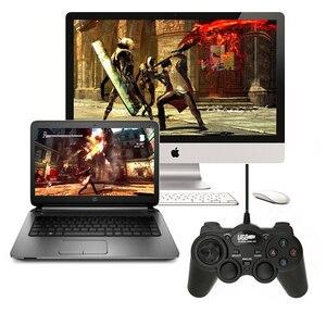 Image 3 - Wired Joypad Gamepads Gamepad ג ויסטיק USB 2.0 הלם בקר משחק עבור מחשב מחשב נייד מחשב מתנה טובה ג ויסטיק