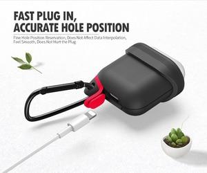 Image 2 - Waterdichte Oortelefoon Case Voor Airpods Shockproof Beschermhoes Headset Gevallen Voor Airpods Case Leuke Fluorescentie Tpu Siliconen