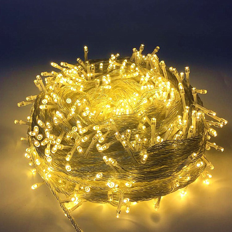 220V 100M LED Fairy String Light 600 Lamp Christmas Light Party Wedding Holiday Light Garland Wedding