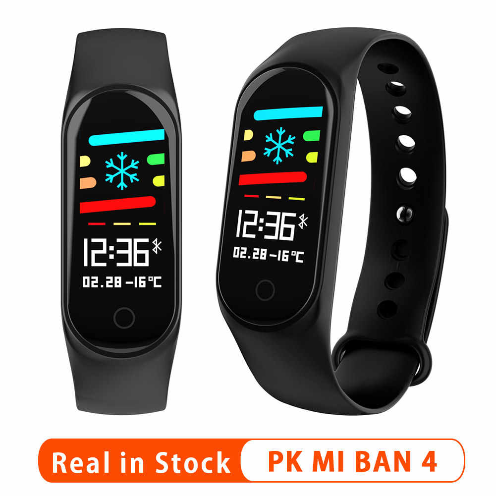 Original M4 Smart Bracelet Color Touch Screen Bluetooth Fitness Tracker Sports Health Smart Bracelet Smart Watch PK Mi Band 4