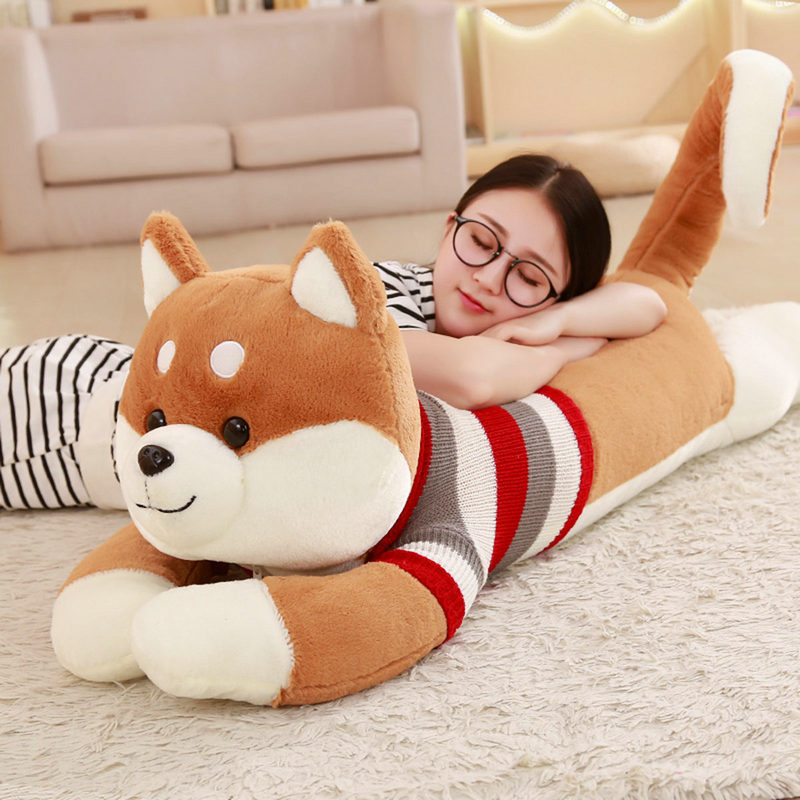 50cm -130CM New Large Size Dog Plush Toys  Stuffed Animal Dolls Cute Gift Toy Kids Baby Sleeping Appease Doll Valentine Present