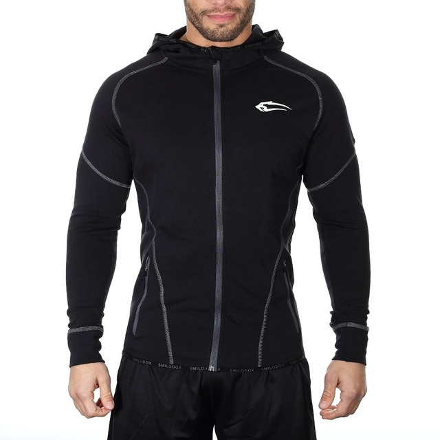 2017Men's Hoodies Sporting Hoodies Male Sweatshirt Slim Tight Patchwork Full Sleeve Muscle Brothers Man Pull Over Coat Sportwear