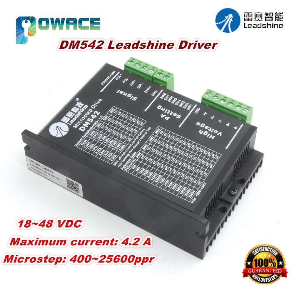 DM542 2 Phase Leadshine Stepper Motor Microstep Driver Controller  4.2A 18~48V DCDM542 2 Phase Leadshine Stepper Motor Microstep Driver Controller  4.2A 18~48V DC