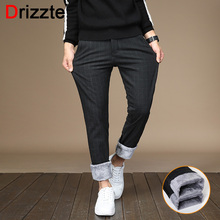 a648a752fc7 Drizzte Mens Pants Sanded Fleece Dress Dress Pants Flannel Lined Black Grey Trousers  Casual Slacks Pants