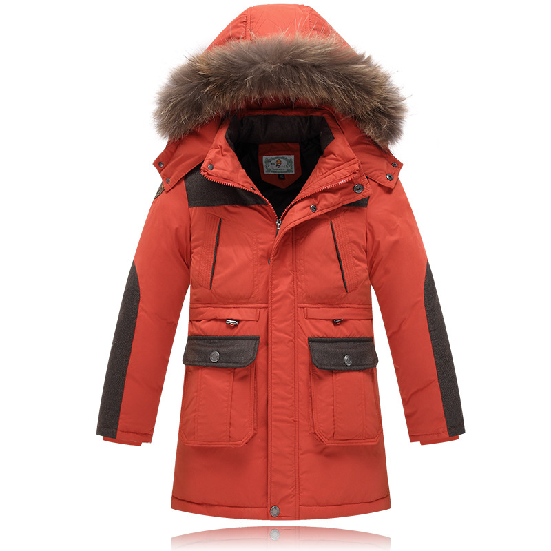 2016 High-quality children Winter Down Coat whit real fur Kids Thick Warm Hooded Jacket hooded Boys Girls Casual Outerwear 8-14T  цены онлайн
